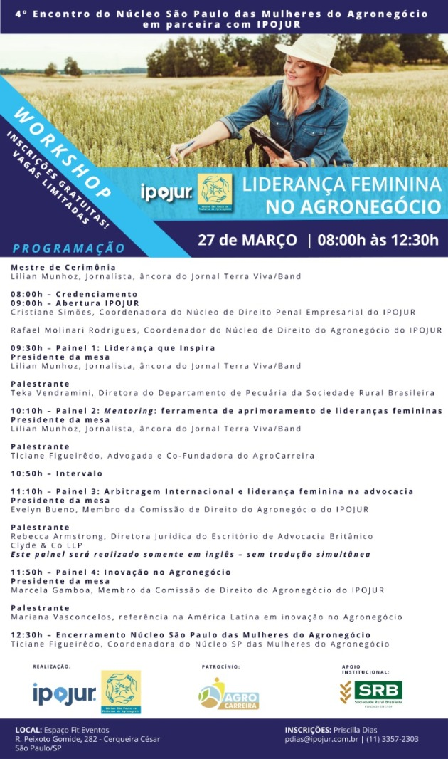 Programacao_Workshop Lideranca Feminina no Agro